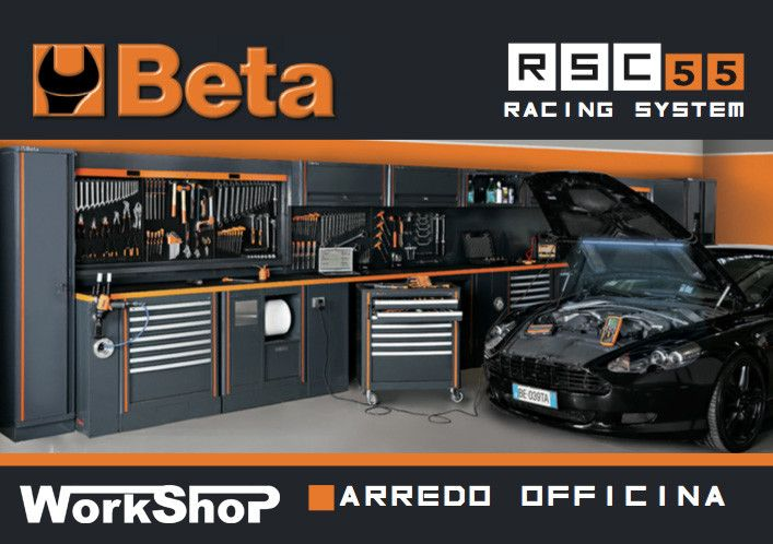 Sistema modulare per officine beta rsc55 beta utensili for Arredamento per officina