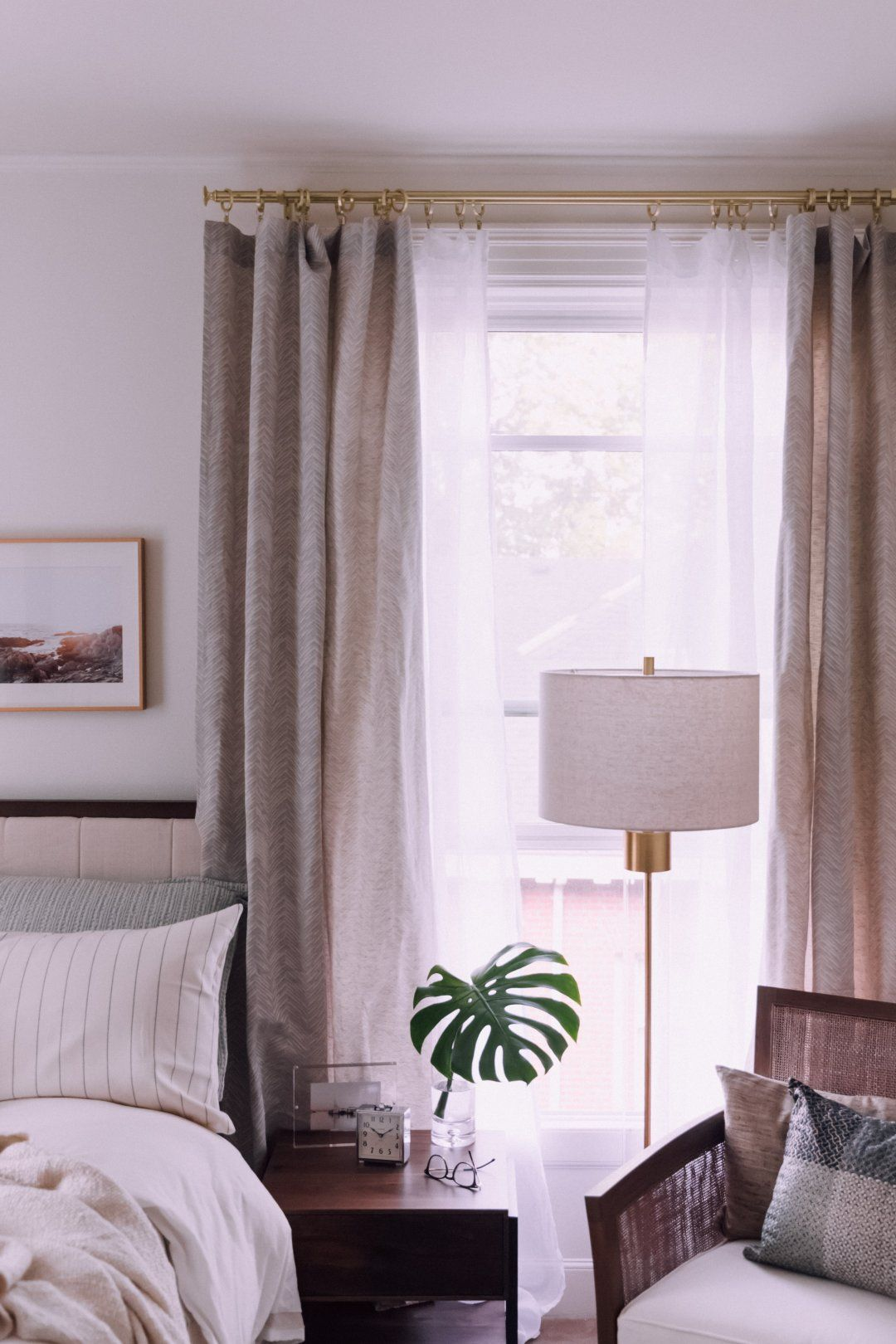 Shop Double 48 84 Gold Curtain Rod White Linen Sheer 52 X108 Curtain Panel With Grommets Dover Small Bedroom