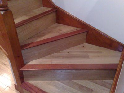 Best Contrast Stair Nose To Tie In Baseboard Molding With 400 x 300