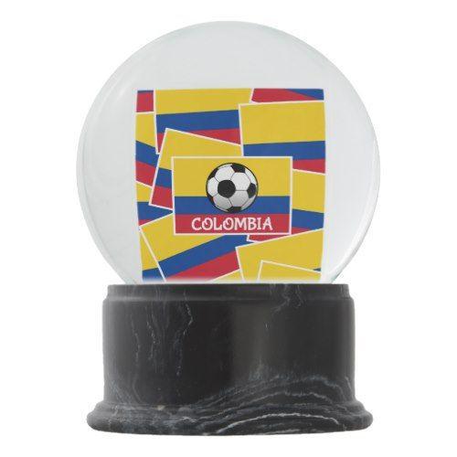 Colombia Football Flag Pattern Snow Globe Zazzle Com Colombia Football Flag Football Soccer Inspiration