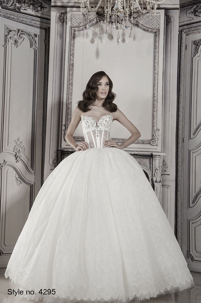 Princess ball gown wedding dresses with no lace