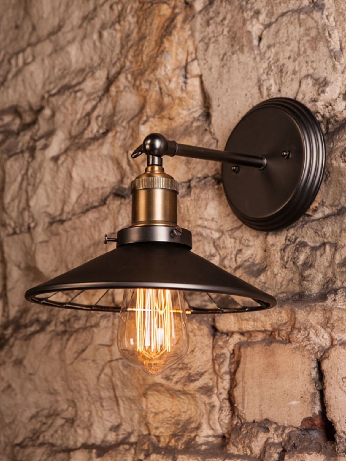 Single Wall Light With Mirrored Inner Antique Wall Lights Light Wall Lights