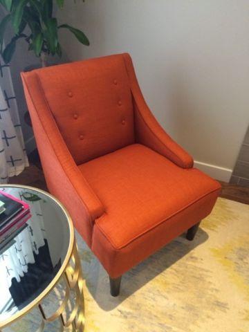 Orange Accent Chair Chairs Recliners Calgary Kijiji