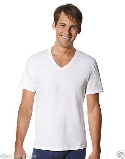 65dd9e2b26b 6 Hanes Men s TAGLESS® V-Neck T Shirt Undershirt Tall Sizes LT- 4XLT  Hanes   VNeck