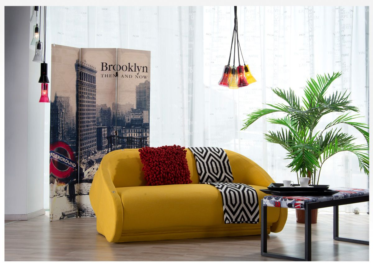 A Yellow Modern Sofa Bed Available Now At Our Showroom Sofabed Furniture Midas Ksa Kuw Furniture Sofa Bed Furniture Leather Sofa Living Room