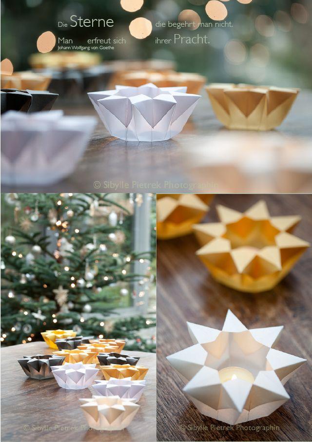 papiersterne gartenblick weihnachtszeit pinterest sterne aus butterbrotpapier. Black Bedroom Furniture Sets. Home Design Ideas
