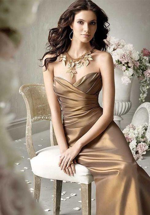 f586b74547c ColsBM Grace Bronze Brown Elegant V-neck Sleeveless Zip up Ruching Bridesmaid  Dresses