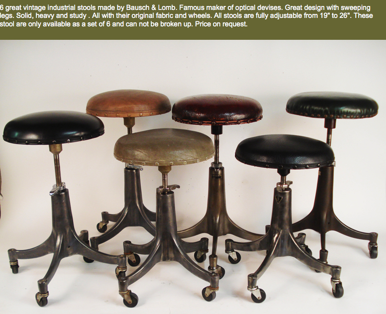 Vintage Industrial Stool Collection From Www Lostfoundart