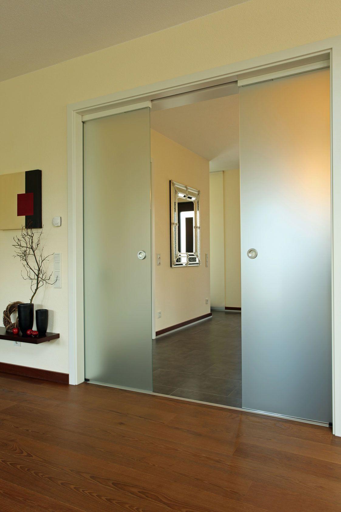 Diele Mit Schiebeglastur Haus Wohnen Glastur Wohnzimmer