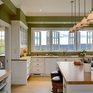 Green Walls White Cabinets With Black Countertop Design, Pictures, Remodel, Decor and Ideas - page 3