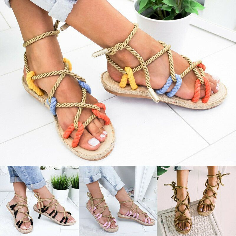 Advertisement Ebay Hemp Rope Sandals Women S Sandals Colored Flat Sandals Fashion Sandals Platform Espadrille Sandals Sandal Fashion Women Shoes