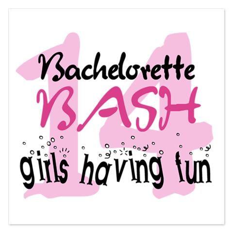 Girls Having Fun Bachelorette 14 5.5 x 4.25 Flat Cards by