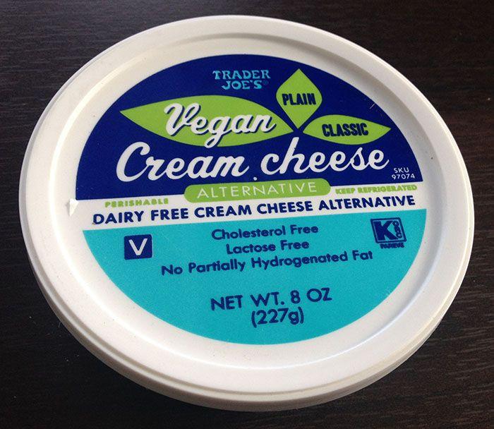 Trader Joe S Vegan Cream Cheese Contains Soy In 2020 Vegan Cream Cheese Trader Joes Vegan Dairy Free Cream Cheese