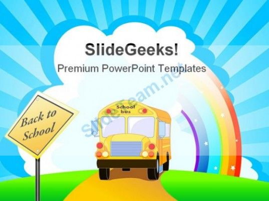Yellow school bus education powerpoint template 1110 powerpoint yellow school bus education powerpoint template 1110 powerpoint templates themes background toneelgroepblik Choice Image
