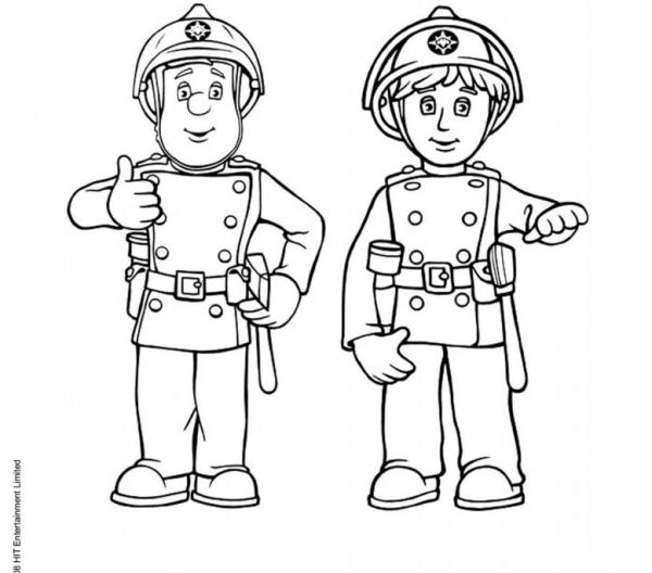 Coloriage Sam Le Pompier Petite Enfance Sam Le Pompier