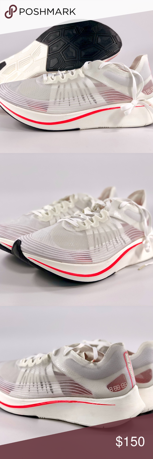 8bf30acbb2a68 Nike Zoom Fly SP Breaking 2 White Sail Crimson Nike Zoom Fly SP Breaking 2  White