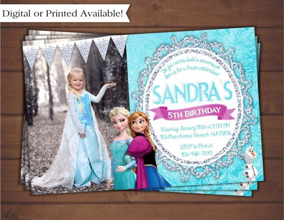 Frozen Invitation Birthday