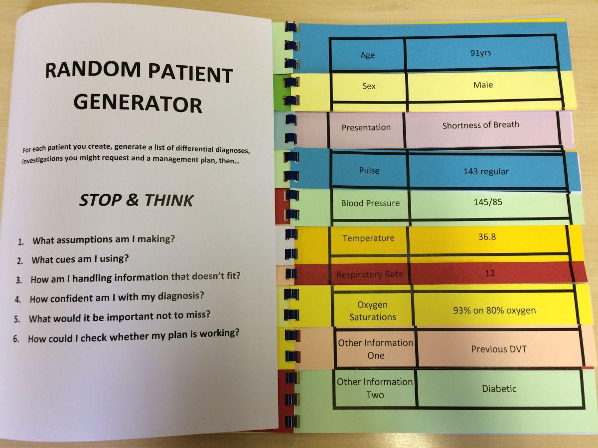The Random Patient Generator Emergency medicine, Generation