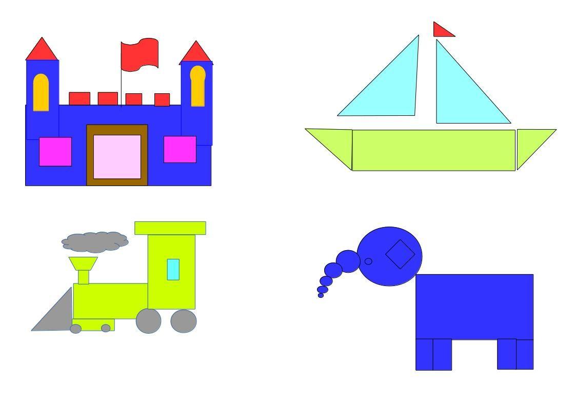 imagenes con figuras geometricas paisajes - Buscar con Google