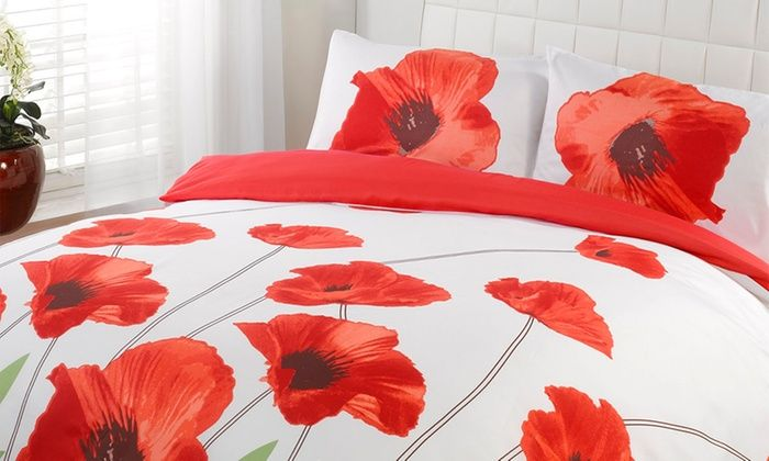 Summer Fields Duvet Set In Choice Of Size And Design From 9 98 Up To 63 Off Flower Duvet Flower Duvet Cover Red Bedding Sets