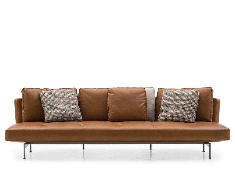 4 Seater Leather Sofa By B Italia