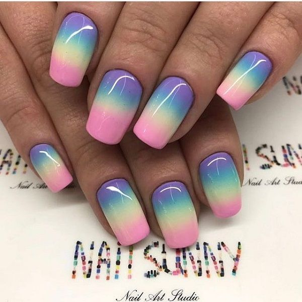 Sunny Nail Art Design This One Is Favorite Nail Art Design For The Summer Holiday The Sunny Nails In Sun Summer Holiday Nails Bright Nail Art Nail Art Ombre