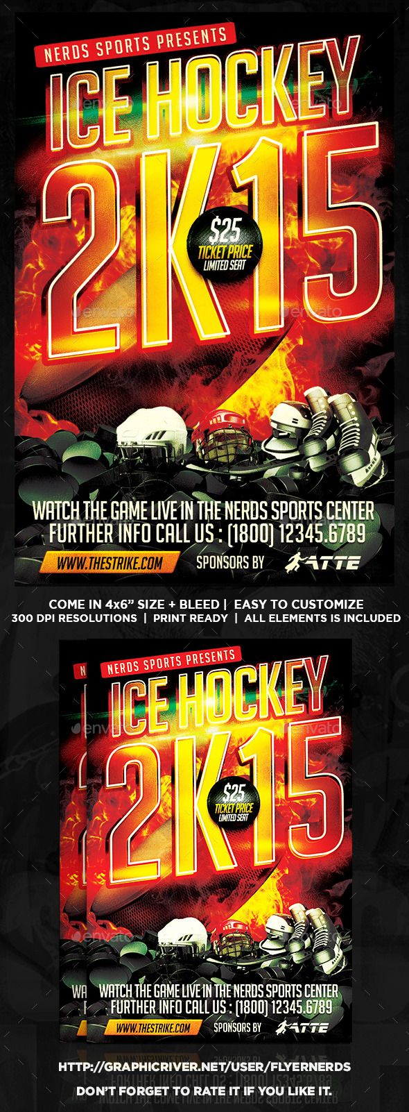 Ice hockey 2k15 championships flyer ice hockey hockey and flyer ice hockey 2k15 championships flyer maxwellsz