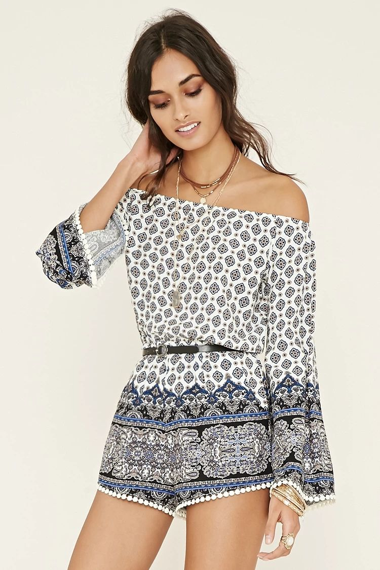 d428e72a899b Off-the-Shoulder Romper  thelatest