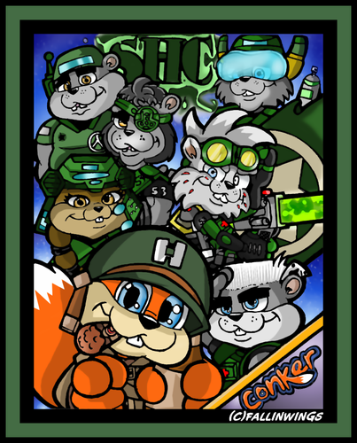 Conker Live And Reloaded Fan Art Conker And Co Conker Live And Reloaded Indie Game Art Conkers