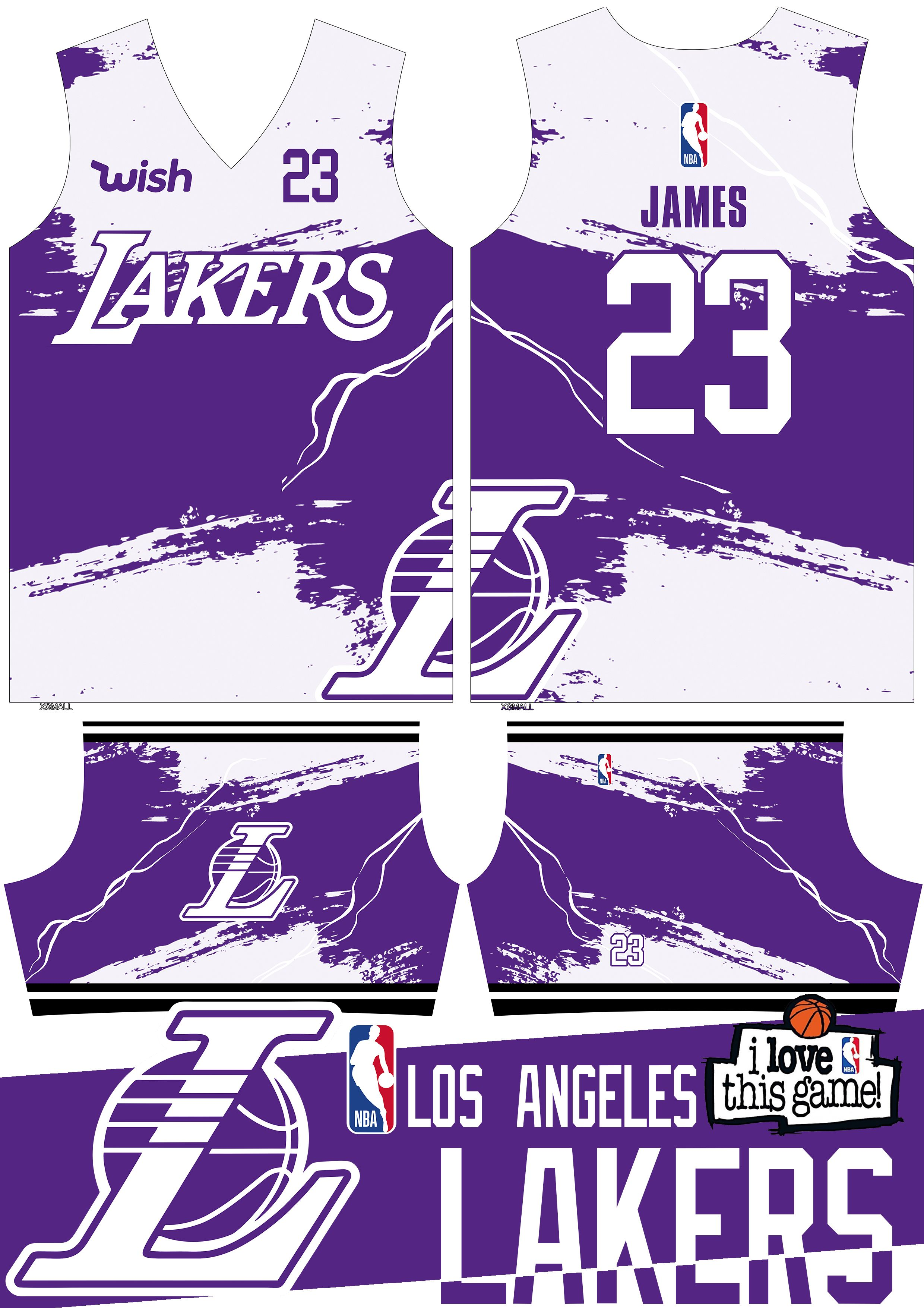 La Lakers Basketball Jersey Design White In 2020 Basketball Jersey Jersey Design Basketball Uniforms