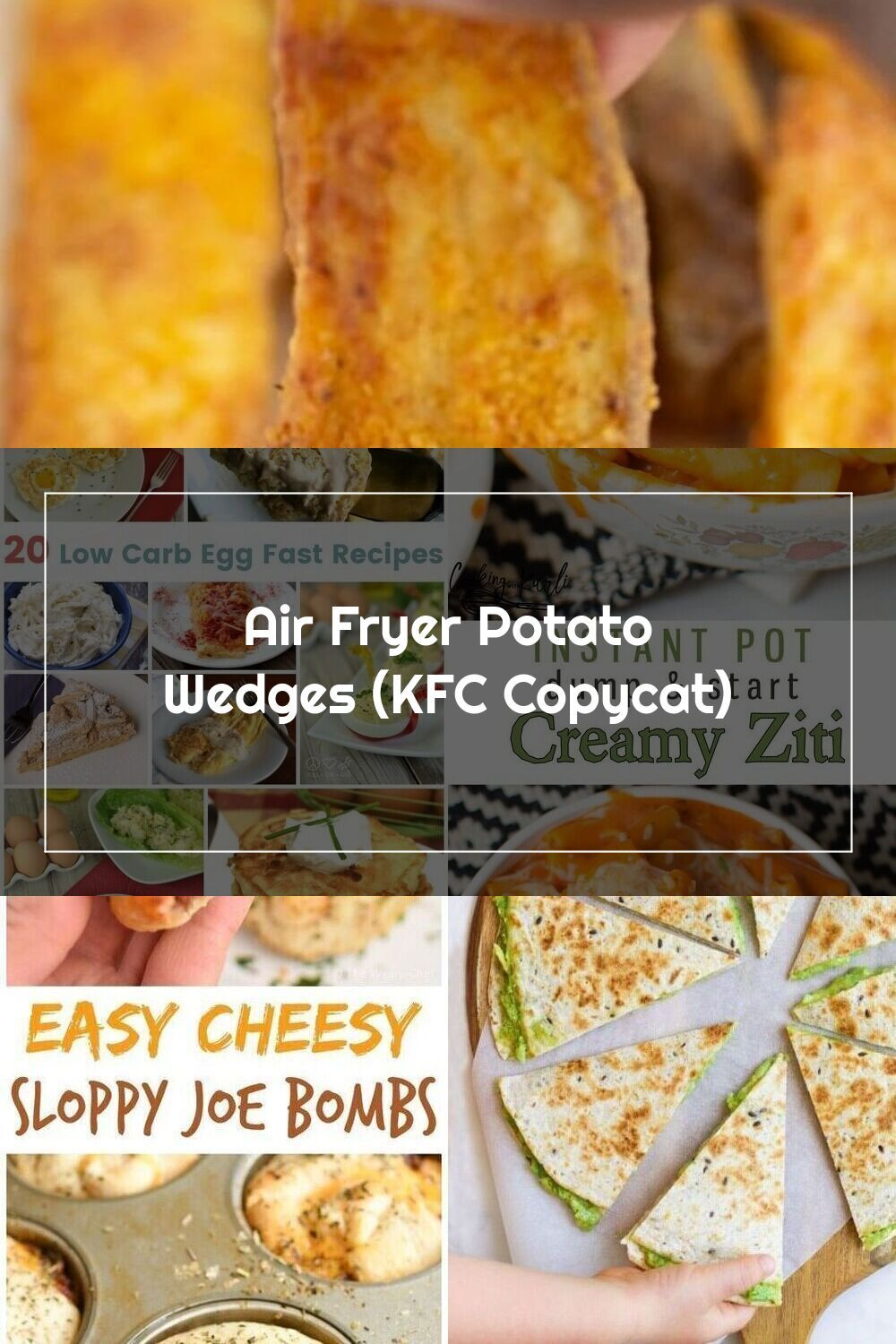 These Copycat KFC Potato Wedges are made in the Air Fryer