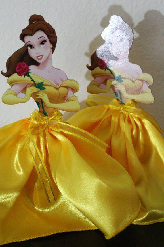 Princess Belle centerpiece princess Belle party decoration Themed Gorgeous Princess Belle Decorations