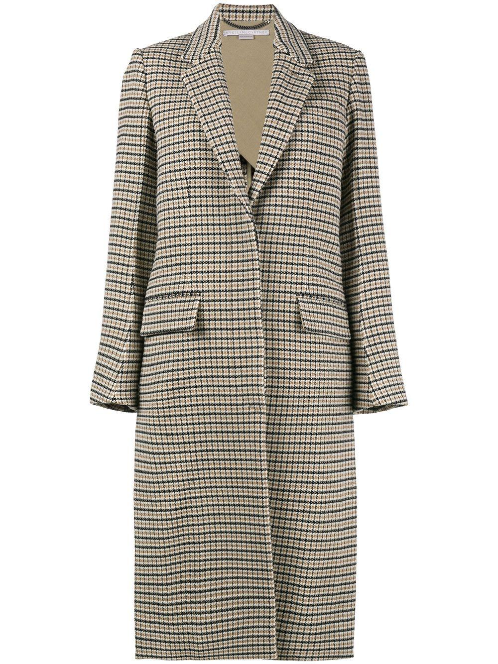 Oversize De Abrigo Mccartney Jackets Coat Cuadros Sacos Stella 6qIERq