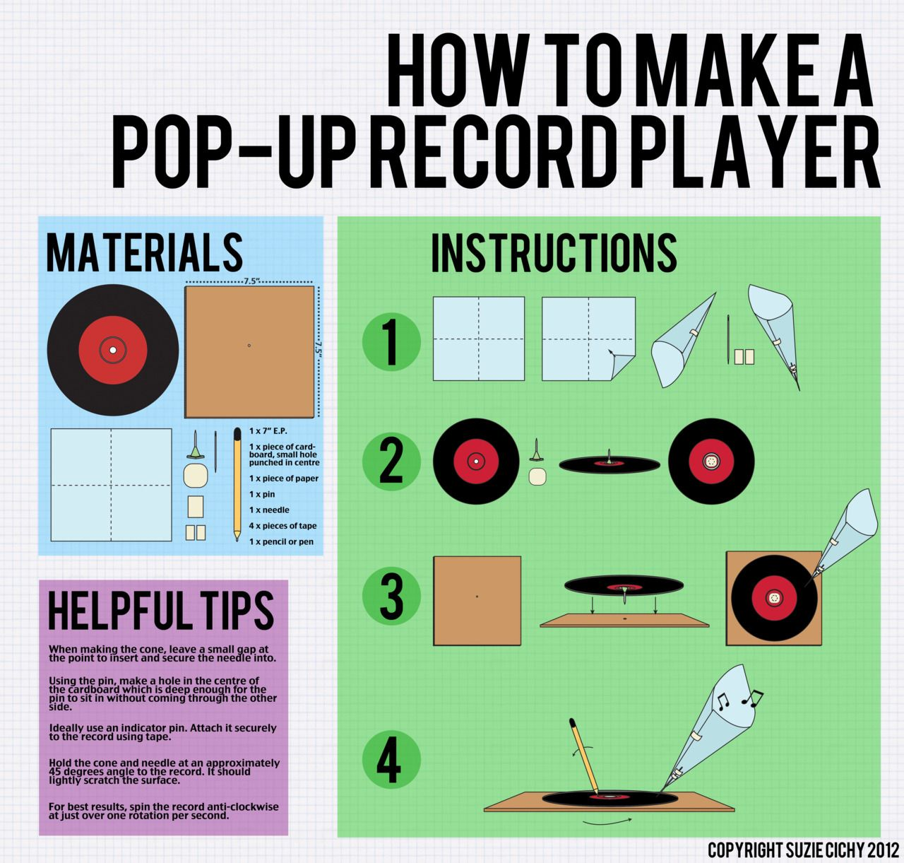 How To Make A Pop-Up Record Player ... Just In Case