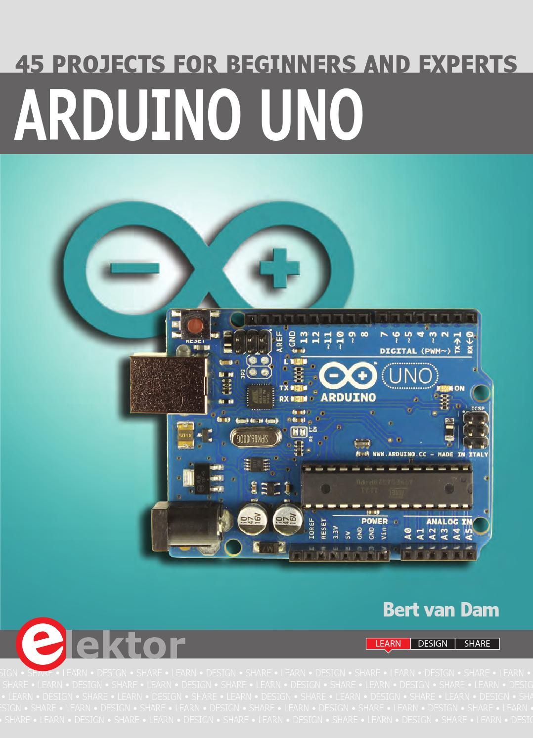 Arduino Uno 45 Projects For Beginners And Experts In 2018 Mine Ultrasonic Water Level Controller Using 8051 Electronic Circuits This Book Covers A Series Of Exciting Fun The Such As Silent Alarm People Sensor Light Motor Control Internet