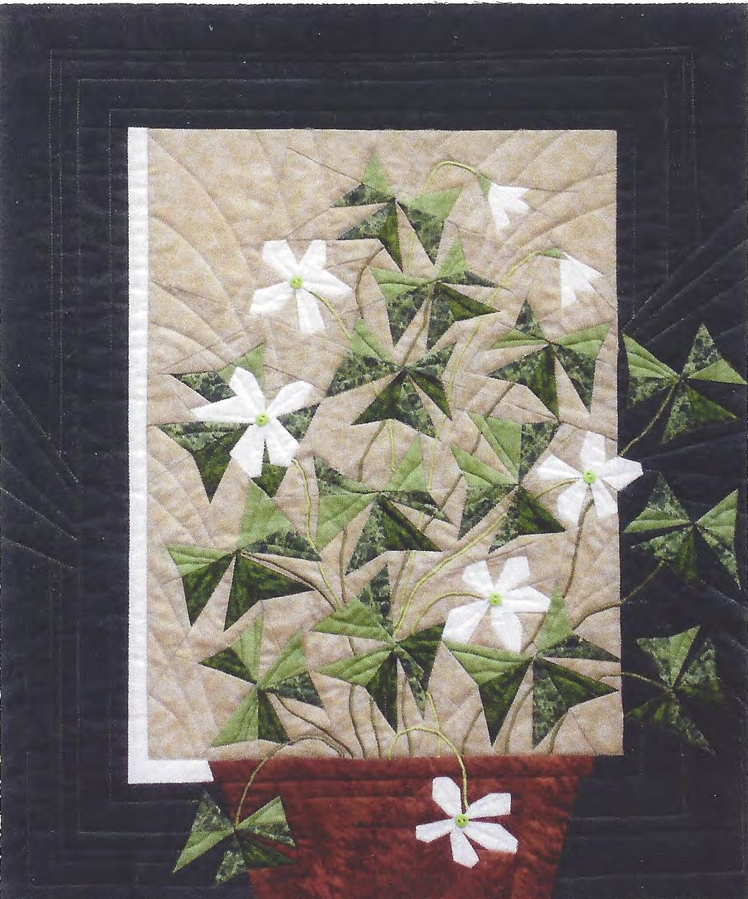Oxalis Foundation Paper Piecing Pattern 20 Quot X 23 1 2