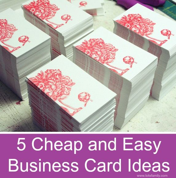 5 cheap and easy business card ideas sandbox card ideas and 5 cheap and easy business card ideas thinking outside the sandbox wahm small business and colourmoves Choice Image