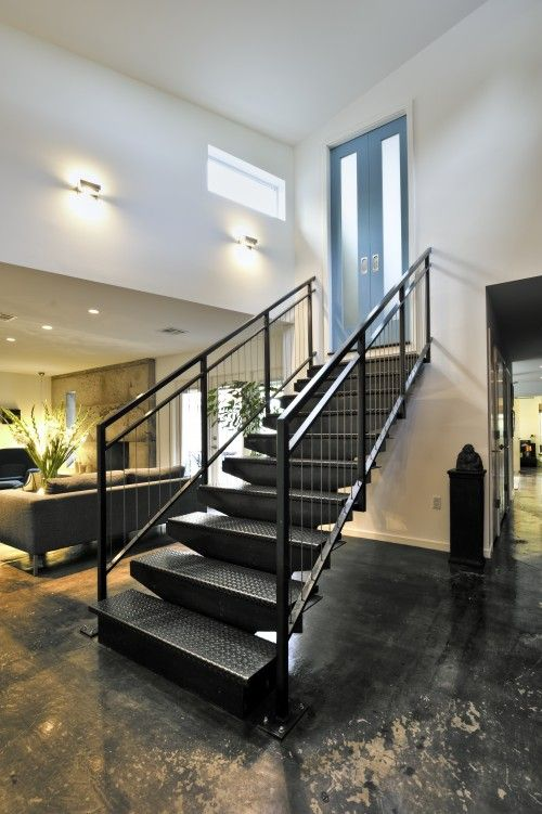 industrial steps   Stairs design modern, Industrial stairs ...