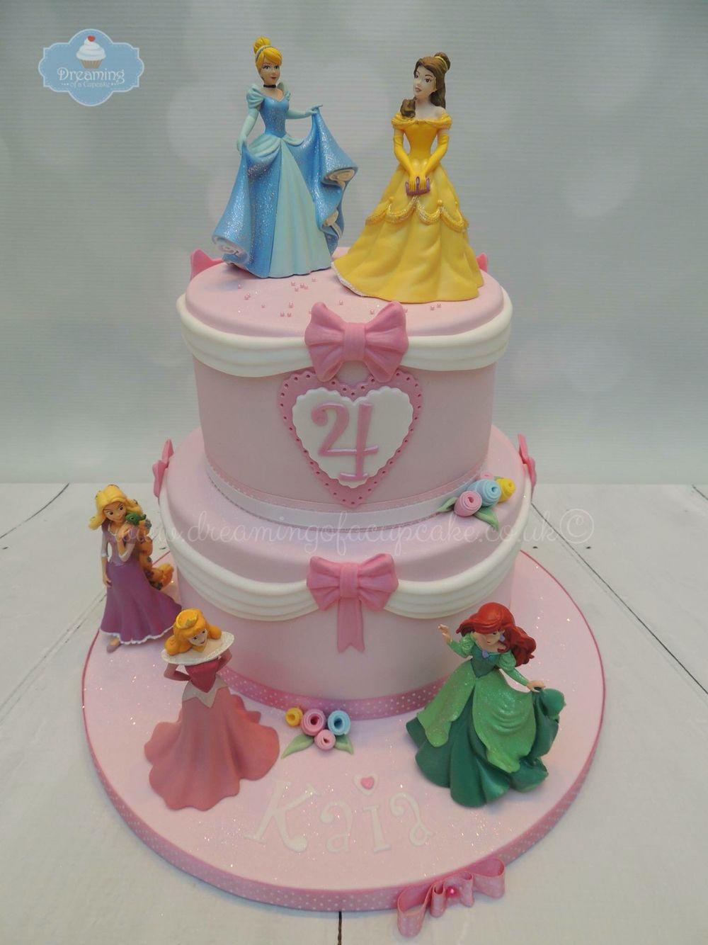 2 Tier Disney Princess Cake Kids Birthdays Disney Princess
