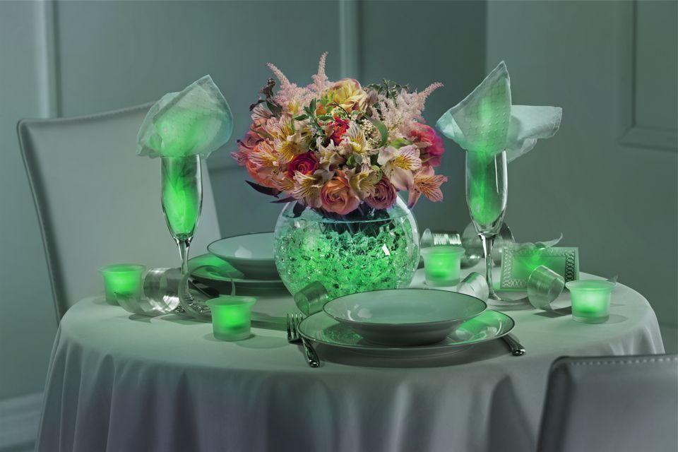 DIY Green Wedding Centerpieces