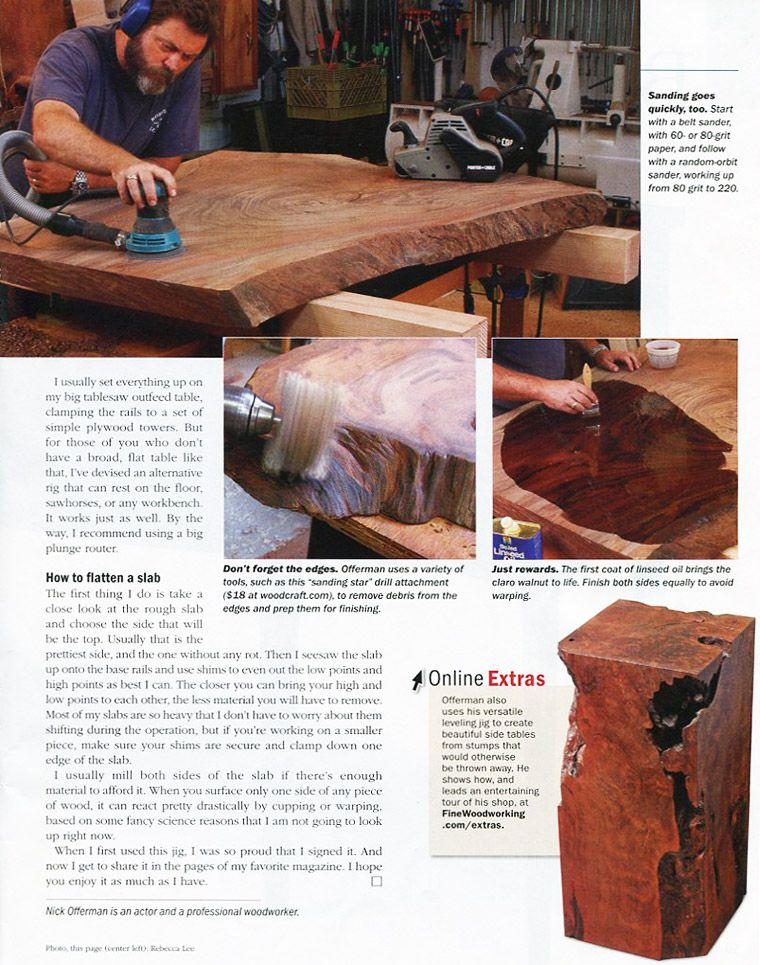 Nick offerman is featured in this fine woodworking magazine nick offerman is featured in this fine woodworking magazine article view the article and check keyboard keysfo Gallery