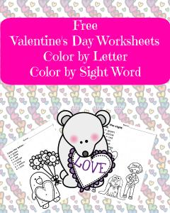 valentines day worksheet free valentines day worksheets great for preschool and kindergarten color by letter - Valentine Worksheets Free