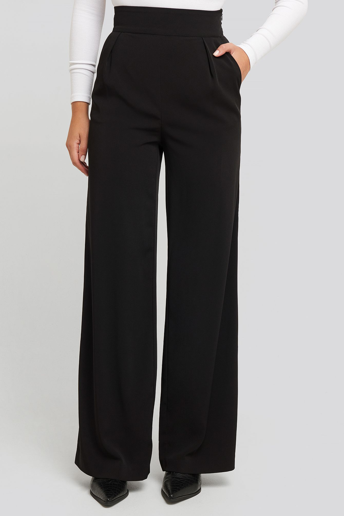 Photo of High Waisted Wide Leg Suit Pants