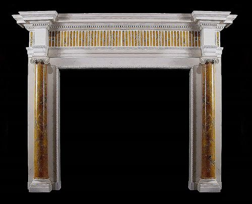 Albany inlaid marble fire surround
