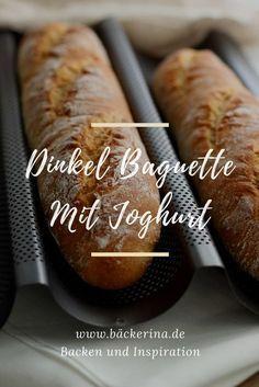 Rezept für ein einfaches Dinkelbaguette mit Joghurt von bäckerina