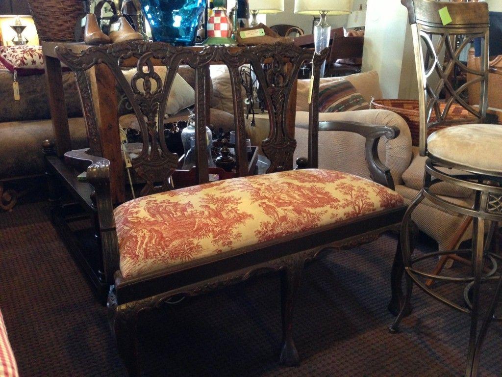 Black Upholstered Bench