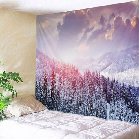 mountain snow print tapestry wall hanging art white w59 on walls coveralls website id=66074