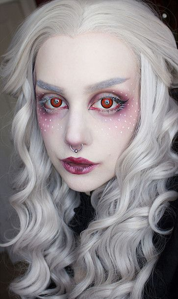 Find Out Where To Get The Make Up Silver Hair Makeup Halloween Makeup