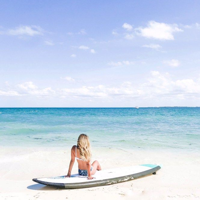 Paddle Boarding At The Beautiful Beach In Cancun All Inclusive Resort Offered Activities