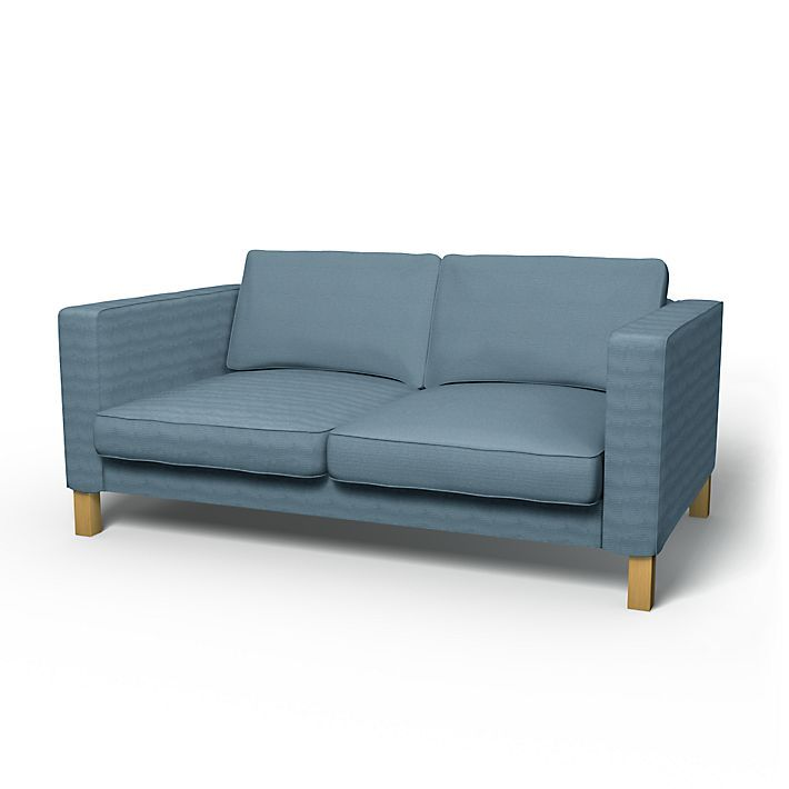 Karlstad Sofa Covers 2 Seater Regular Fit Using The Fabric Panama Cotton Steel Blue Sofa Sofas Und 2er Sofa